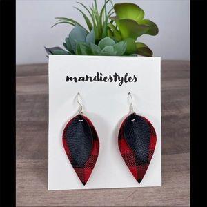 Plaid/Black earrings